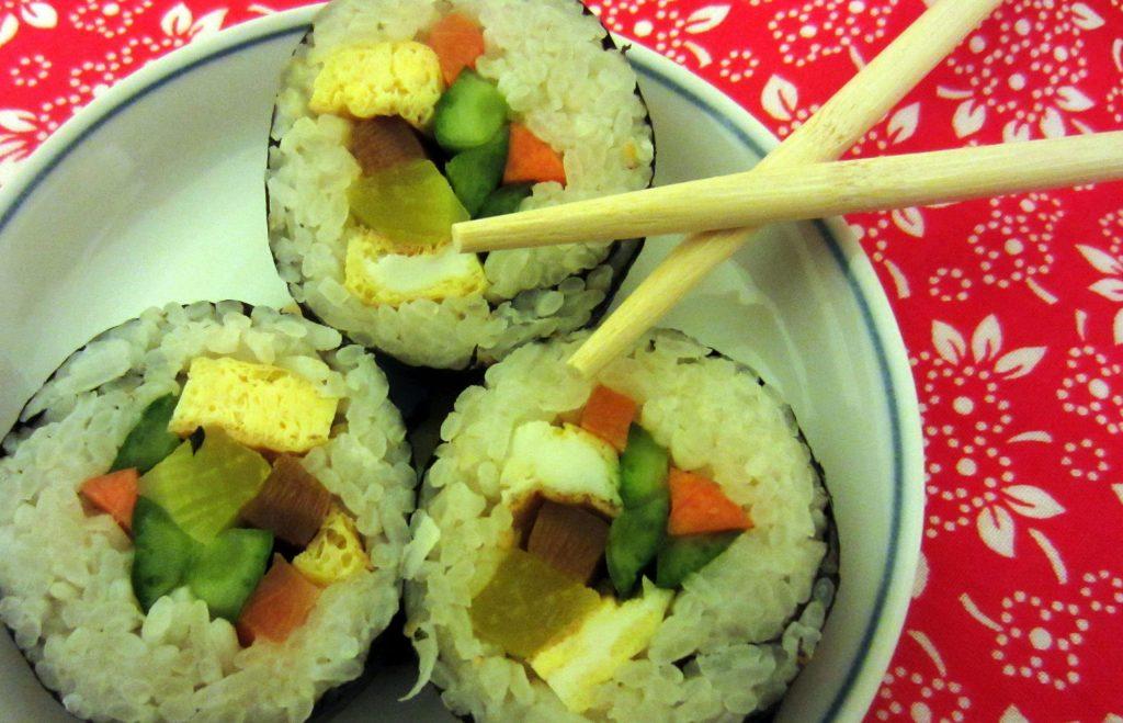 Auf den ersten Blick erinnert Gimpab an japanischen Maki oder Sushi-Rollen.