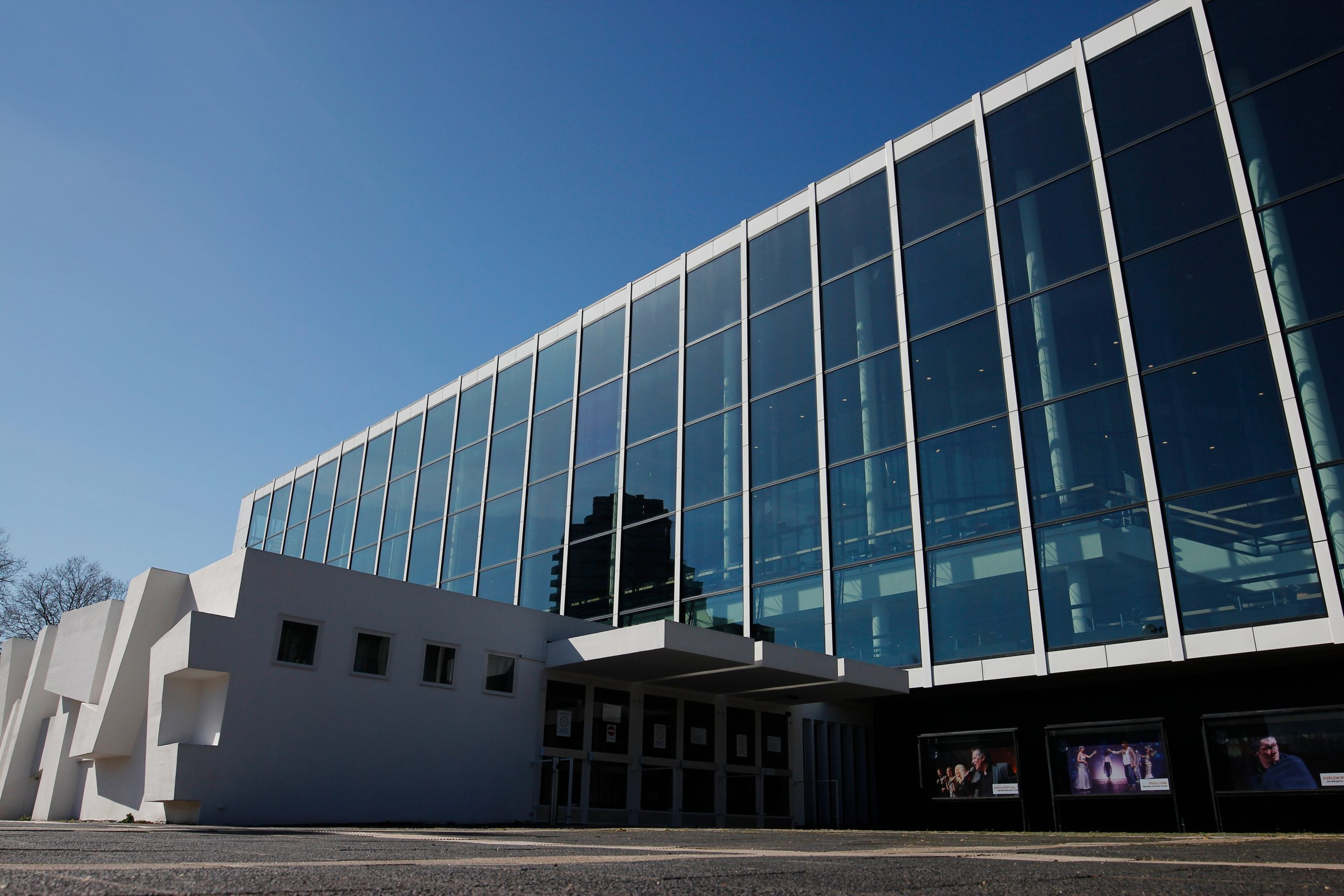 "Exterior view of the ""Musiktheater im Revier"" in Gelsenkirchen."