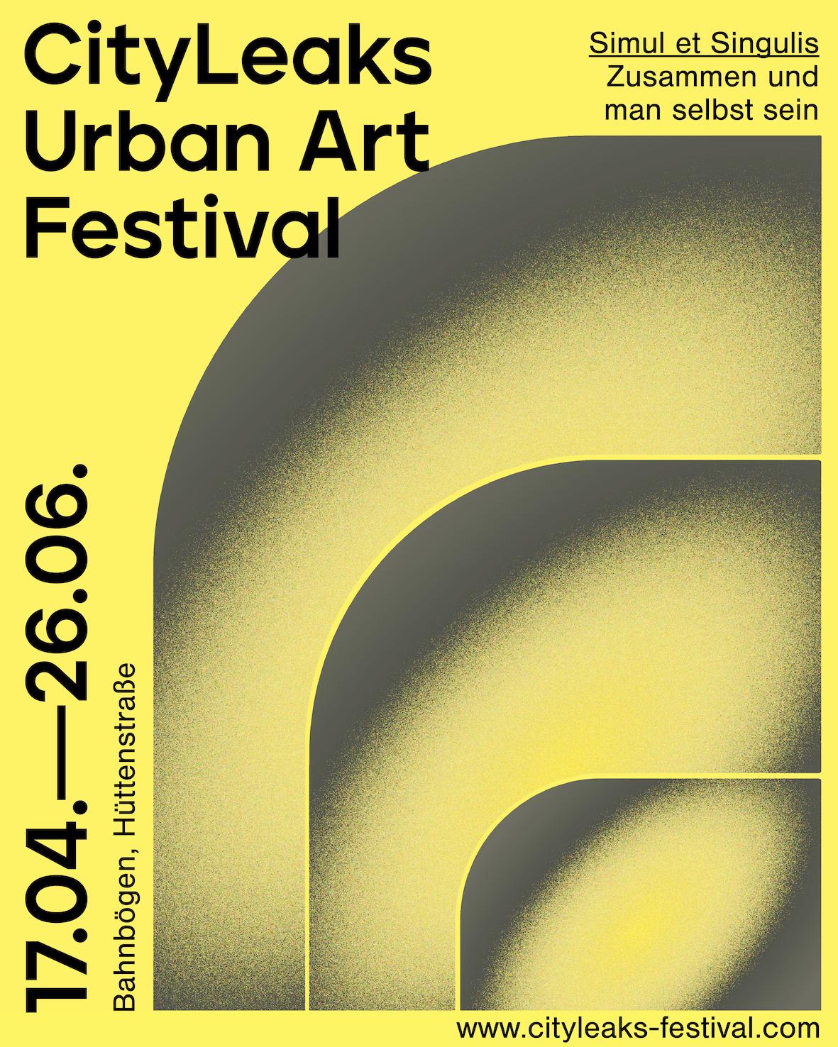 """Poster of the event """"CityLeaks Urban Art Festival"""""""