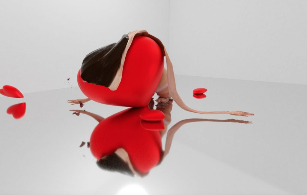 Simulation von einem AR Kunstwerk im Rahmen der AR Biennale