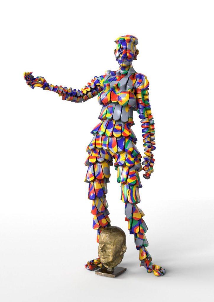 Simulation of a AR Artwork during AR Biennial