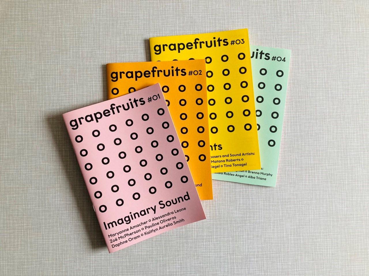 Bilder von den grapefruit fanzines Ausgabe 1-4.
