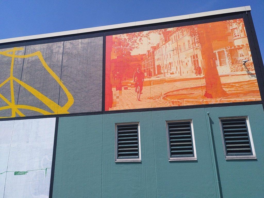 Bild von großem Grafitti in Witten.